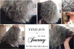 Transition to Silver Hair Collage