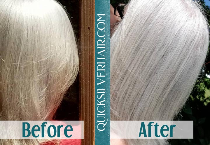 Before and After Katherine QuickSilverHair collage