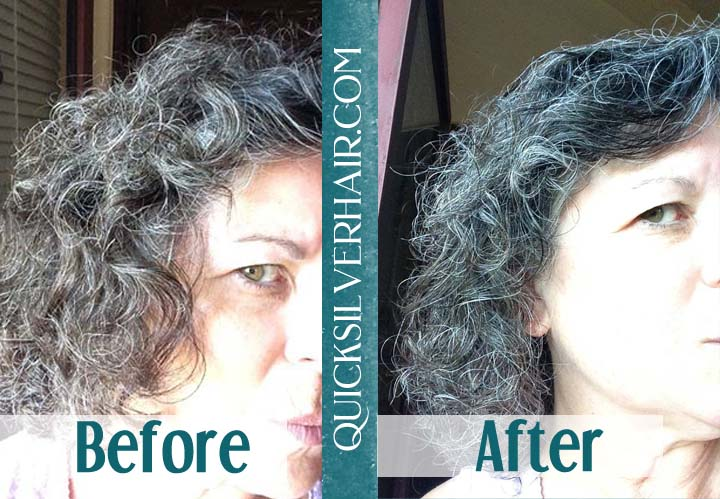 Before and After QuickSilverHair Kitti L Collage
