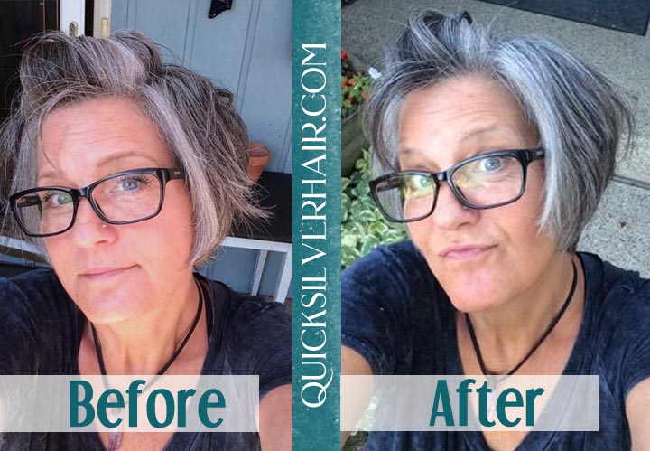 Before and After QuickSilverHair MaryAnn B collage