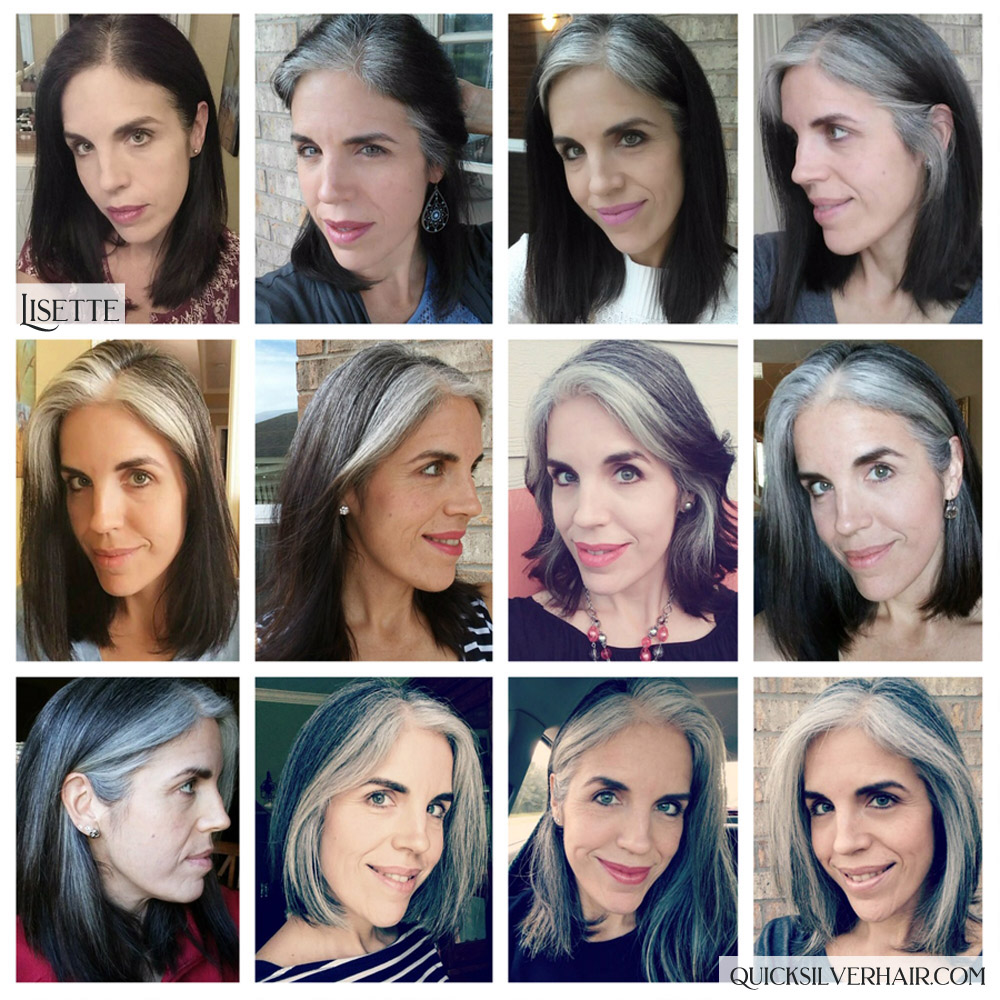 Lisette P Transition To Gray Hair Collage Image