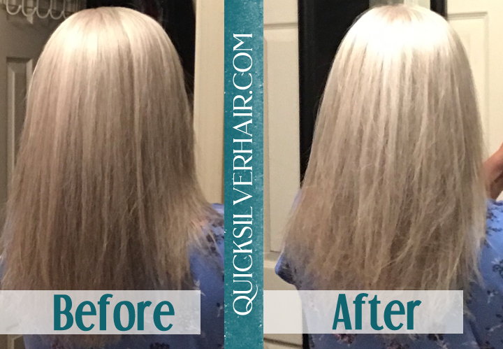 Image of Before and After Review QuickSilverHair Nicole T