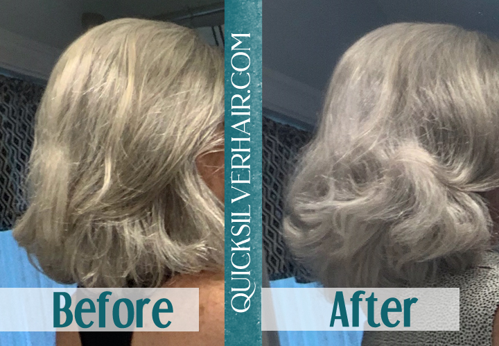 Image of Before and After QuickSilverHair Clay Pat P