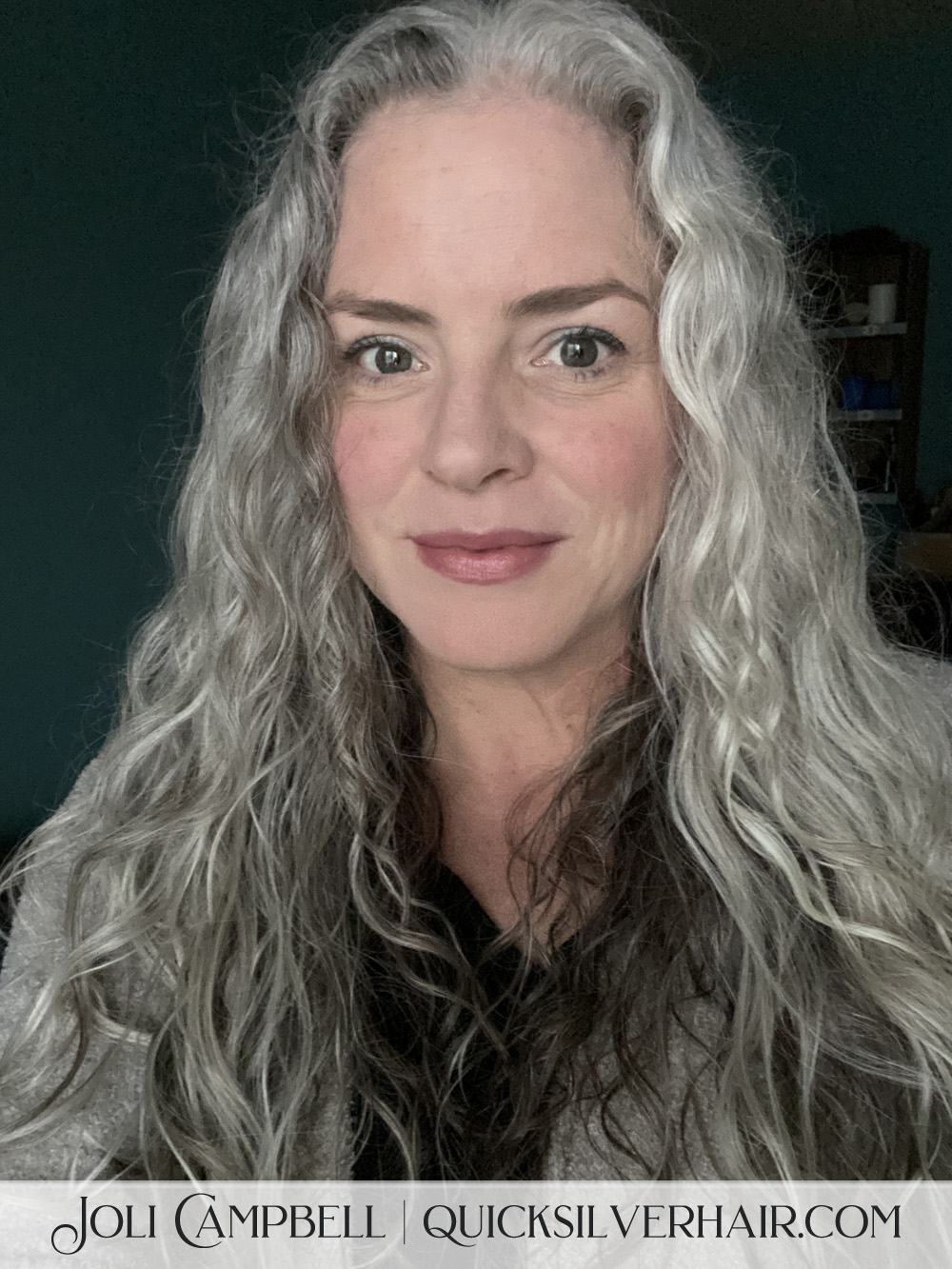 Image of Joli Campbell with curly hair using SEEN Curly Creme