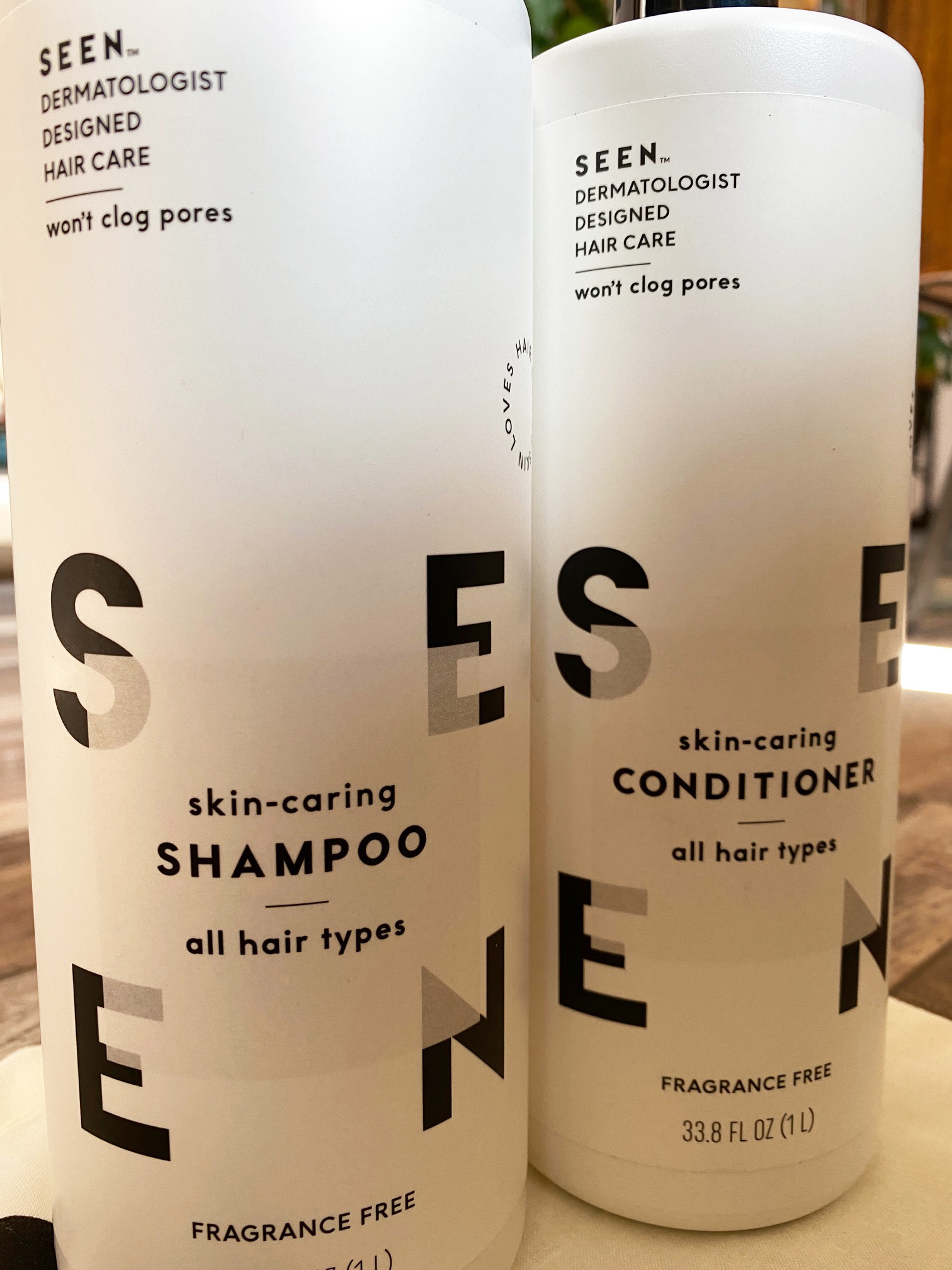 Image of SEEN Shampoo and Conditioner Liter Bottles