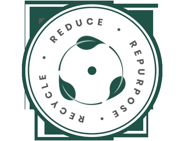 RECYCLE REUSE REPURPOSE badge