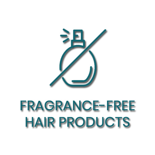 Fragrance-Free Hair Care Products words and icon