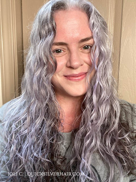 image of Joli with manic panic ultraviolet in her hair