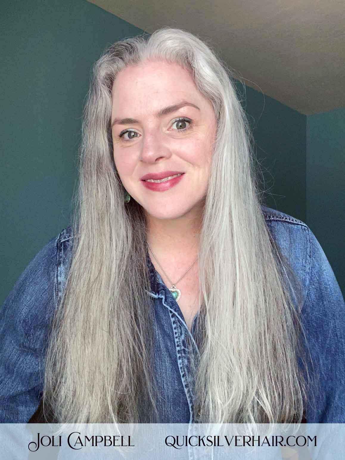 Joli Straightened hair with Revlon One Step Hot Air Brush