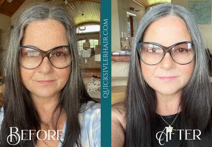 QuickSilverHair Before and After Review Debbie J