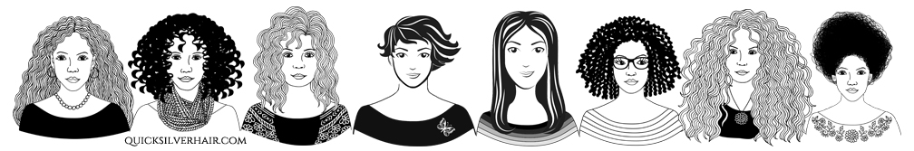 What is Your Hair Type row of women with different hair types